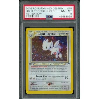 Pokemon Neo Destiny 1st Edition Light Togetic 15/105 PSA 8