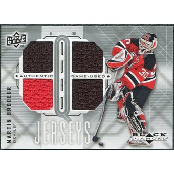 2009/10 Upper Deck Black Diamond Jerseys Quad #QJMB Martin Brodeur