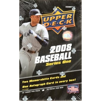 2008 Upper Deck Series 1 Baseball Hobby Box