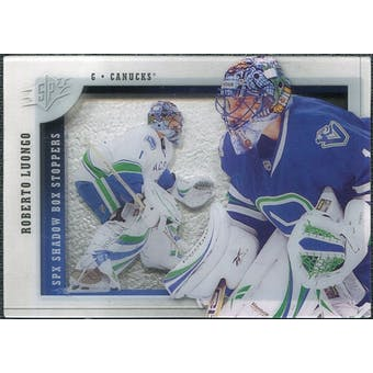 2009/10 Upper Deck SPx Shadowbox Stoppers #ST4 Roberto Luongo