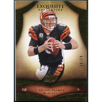 2009 Upper Deck Exquisite Collection #44 Carson Palmer /80
