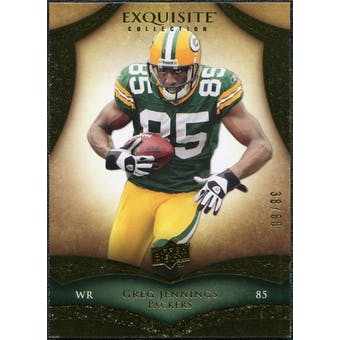 2009 Upper Deck Exquisite Collection #48 Greg Jennings /80