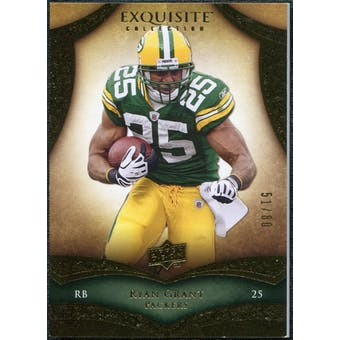 2009 Upper Deck Exquisite Collection #49 Ryan Grant /80