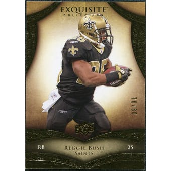 2009 Upper Deck Exquisite Collection #57 Reggie Bush /80