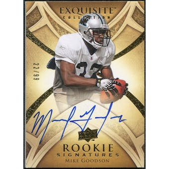 2009 Upper Deck Exquisite Collection #126 Mike Goodson RC Autograph /99