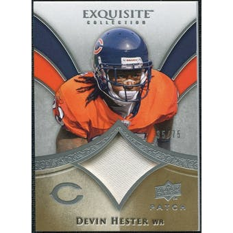 2009 Upper Deck Exquisite Collection Patch #PDH Devin Hester 35/75