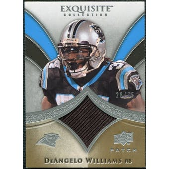 2009 Upper Deck Exquisite Collection Patch #PDW DeAngelo Williams /75