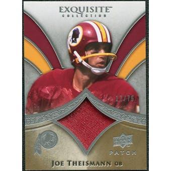2009 Upper Deck Exquisite Collection Patch #PJT Joe Theismann /75