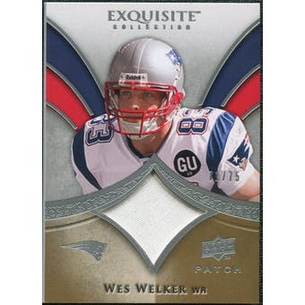 2009 Upper Deck Exquisite Collection Patch #PWW Wes Welker /75