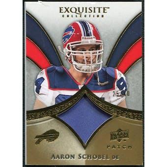 2009 Upper Deck Exquisite Collection Patch Gold #PAS Aaron Schobel /40