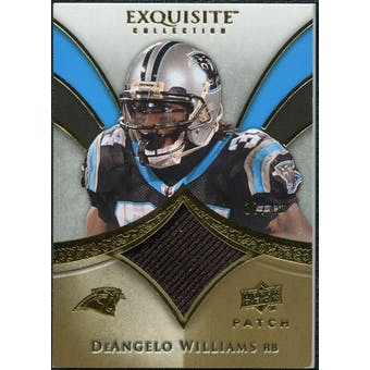 2009 Upper Deck Exquisite Collection Patch Gold #PDW DeAngelo Williams 37/40