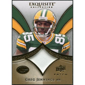 2009 Upper Deck Exquisite Collection Patch Gold #PGJ Greg Jennings /40