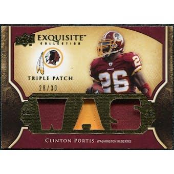 2009 Upper Deck Exquisite Collection Single Player Triple Patch #3PCP Clinton Portis 28/30