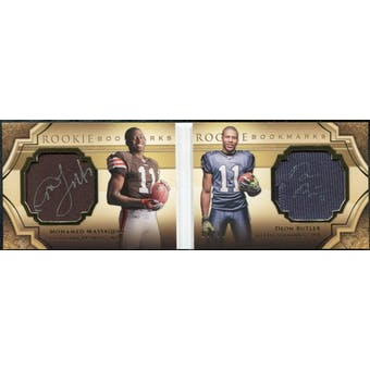 2009 Upper Deck Exquisite Collection Rookie Bookmark Patch Autographs #MB Deon Butler Mohamed Massaquoi /99