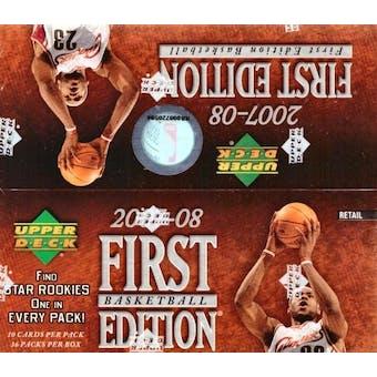 2007/08 Upper Deck First Edition Basketball 36-Pack Box
