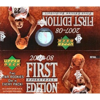 2007/08 Upper Deck First Edition Basketball 36-Pack Box