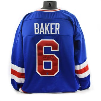 Bill Baker Autographed USA Miracle on Ice Blue Jersey w/ 1980 Gold Medal (DACW COA)