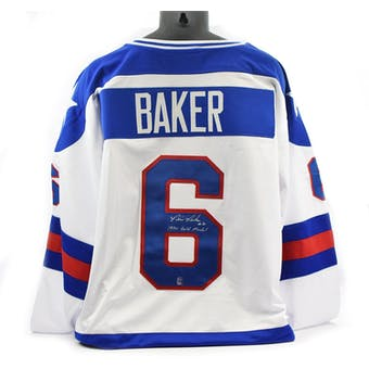 Bill Baker Autographed USA Miracle on Ice White Jersey w/ 1980 Gold Medal (DACW COA)