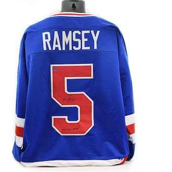 Mike Ramsey Autographed USA Miracle on Ice Blue Jersey w/ 1980 Gold Medal (DACW COA)