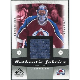 2010/11 Upper Deck SP Game Used Authentic Fabrics #AFPR Patrick Roy