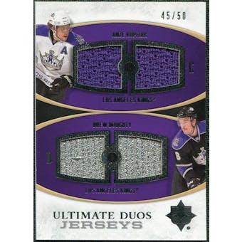 2010/11 Upper Deck Ultimate Collection Ultimate Jerseys Duos #UDJKD Anze Kopitar Drew Doughty /50