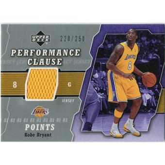 2005/06 Upper Deck Performance Clause Jerseys #KB Kobe Bryant /250