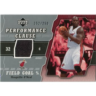 2005/06 Upper Deck Performance Clause Jerseys #SO Shaquille O'Neal /250