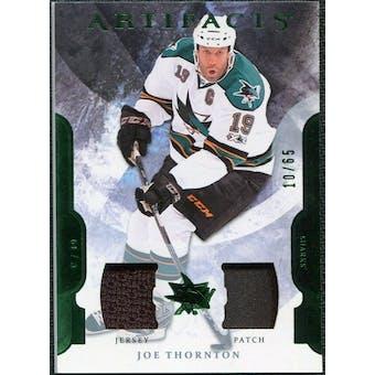 2011/12 Upper Deck Artifacts Jerseys Patch Emerald #92 Joe Thornton /65