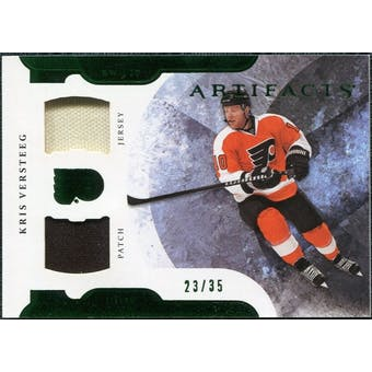 2011/12 Upper Deck Artifacts Horizontal Jerseys Patches Emerald #32 Kris Versteeg /35