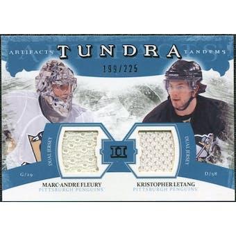 2011/12 Upper Deck Artifacts Tundra Tandems Jerseys Blue #TT2FL Marc-Andre Fleury Kristopher Letang /225
