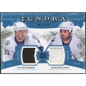2011/12 Upper Deck Artifacts Tundra Tandems Jerseys Blue #TT2SM Steven Stamkos / Martin St. Louis /225