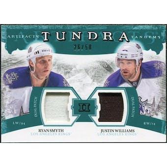 2011/12 Upper Deck Artifacts Tundra Tandems Patches Emerald #TT2RJ Ryan Smyth / Justin Williams /50