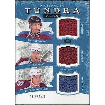 2011/12 Upper Deck Artifacts Tundra Trios Jerseys Blue #COL Matt Duchene Paul Stastny John Michael Liles /149