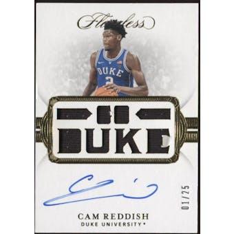 "2019/20 Immaculate Cam Reddish Autographed Card #104 #1/25 ""GO DUKE"" *Damaged*"