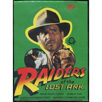 Raiders of the Lost Ark Wax Box (1981 O-Pee-Chee)