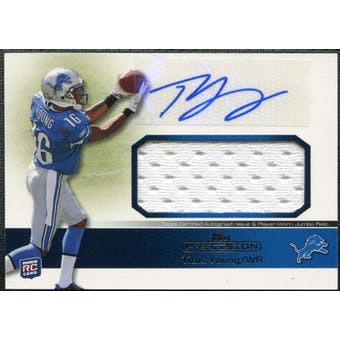 2011 Topps Precision Rookie Jumbo Relic Autographs #RAJRTY Titus Young