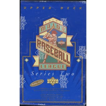 1993 Upper Deck Series 2 Baseball Hobby Box
