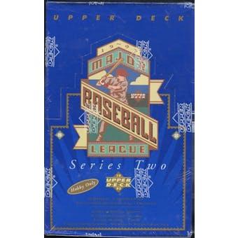 1993 Upper Deck Series 2 Baseball Hobby Box