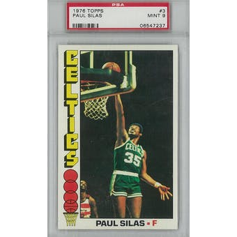 1976/77 Topps Basketball #3 Paul Silas PSA 9 (Mint) *7237 (Reed Buy)