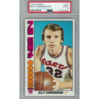 1976/77 Topps Basketball  #93 Billy Cunningham PSA 9 (Mint) *4940 (Reed Buy)