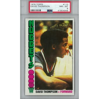1976/77 Topps Basketball #110 David Thompson RC PSA 8 (NM-MT) *4946 (Reed Buy)