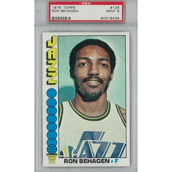 1976/77 Topps Basketball #138 Ron Behagen PSA 9 (Mint) *8436 (Reed Buy)