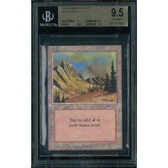 Magic the Gathering Arabian Nights Mountain BGS 9.5 (9, 9.5, 9.5, 9.5)