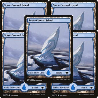 Magic the Gathering Modern Horizons LOT 5x Snow-Covered Island FOIL - NEAR MINT (NM)