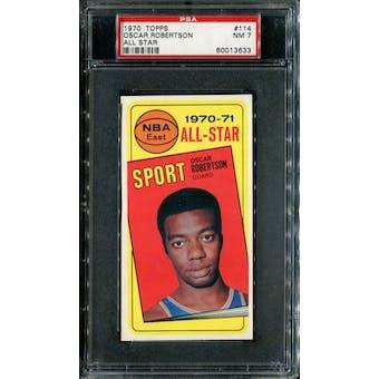 1970/71 Topps Basketball #114 Oscar Robertson All Star PSA 7 (NM) *3633