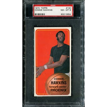 1970/71 Topps Basketball #130 Connie Hawkins PSA 8 (NM-MT) *3654