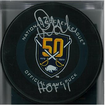 Doug Gilmour Autographed Buffalo Sabres Official Anniversary Hockey Puck