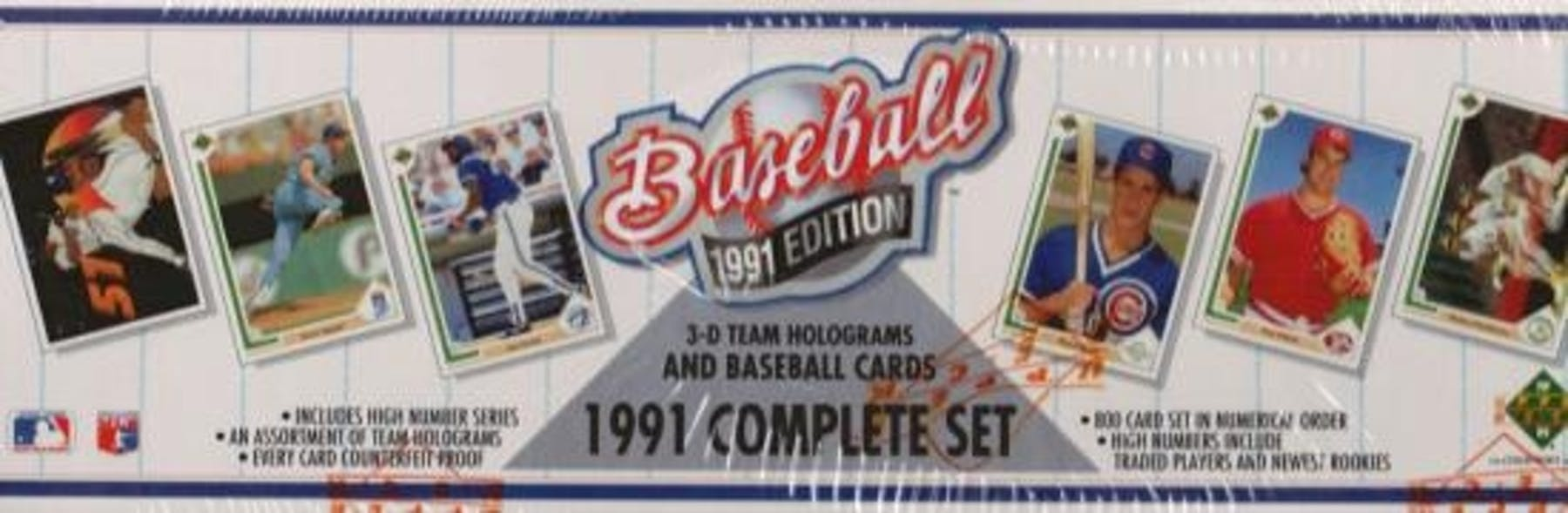 1991 Upper Deck Baseball Factory Set Da Card World