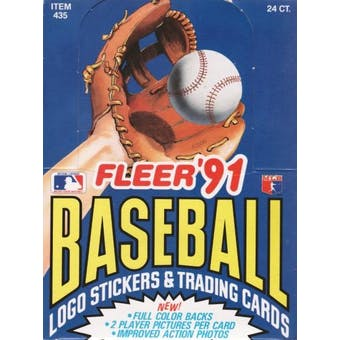 1991 Fleer Baseball Rack Box
