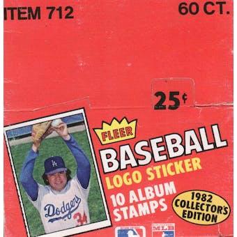 1982 Fleer Stickers Baseball Box